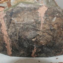 O burato na base da talla do San Lourenzo