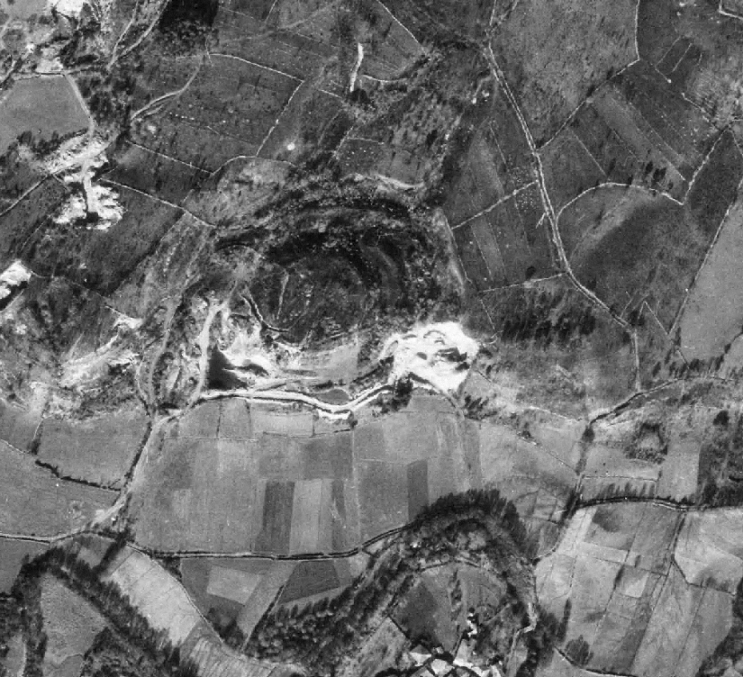 Foto aérea do castro. Voo interministerial 1973-1986.