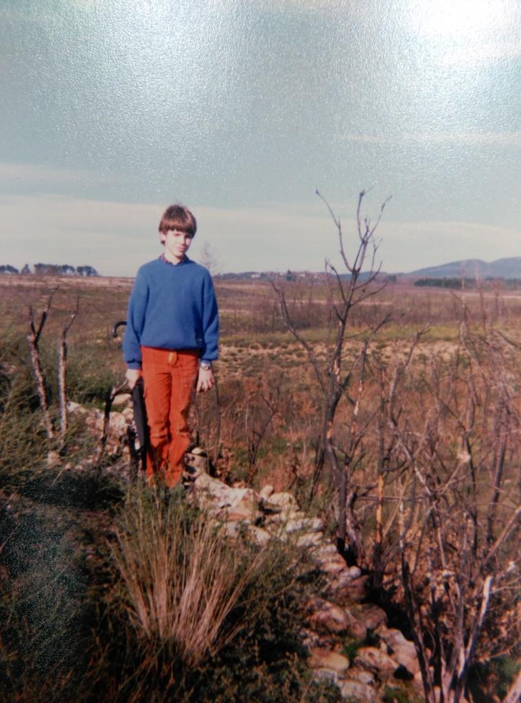 Expedición arqueolóxica ao castro de San Lourenzo, 1987.