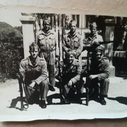 Como escolta do Batallón de Trabajadores nº 1 de Barcelona (circa 1940).