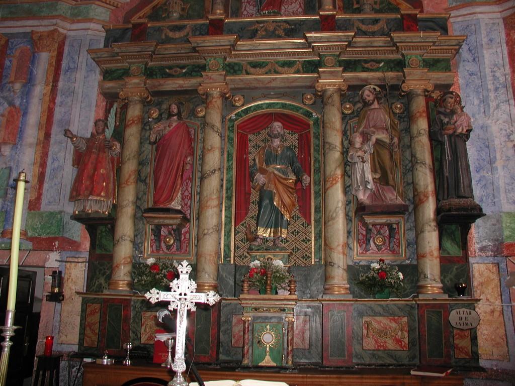 Retábulo maior da igrexa de Cereixa, de mediados do século XIX